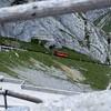 Railway up to summit of Pilatus, Switzerland.