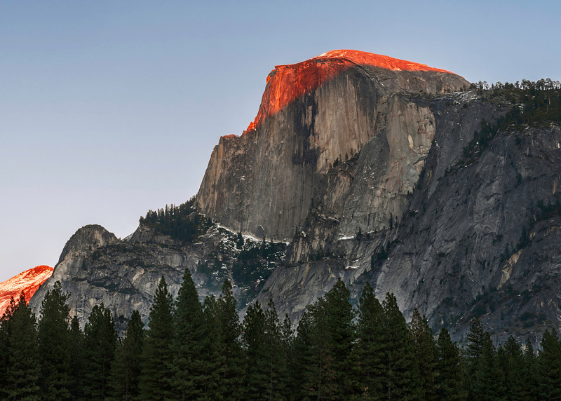 Winter Solstice sunset 2014. Half Dome, Yosemite, CA.