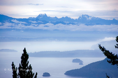 The Cascades as seen from Mount Constitution.