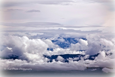 Mount Baker in clouds.