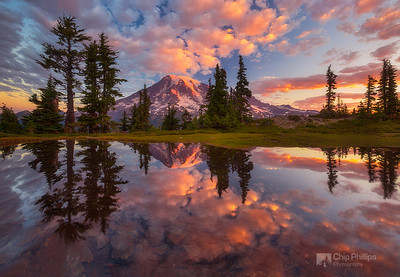 """Mount Rainier Tarn At Sunrise"""