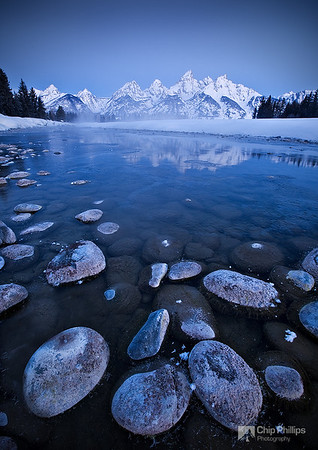 """Snake River Dawn""  A very cold morning at the Snake River. Grand Teton National Park, Wyoming"