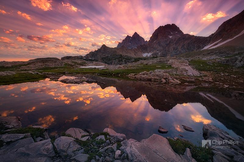 """""""Teton Tarn Sunrise""""  Taken high up in the backcountry in Grand Teton National Park."""