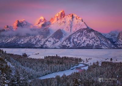 """Grand Teton Winter""  A beautiful winter sunrise in Grand Teton National Park, wyomning."