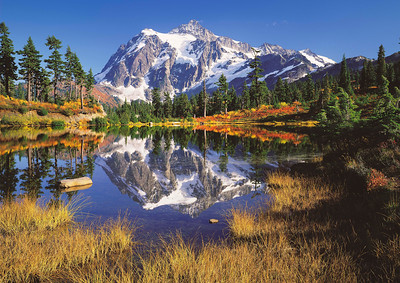 """""""Picture Lake"""" Mt. Shuksan at her Fall best."""