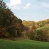 looking across the farm fields