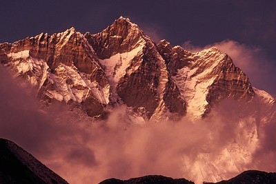 Sunset on Lhotse Wall NEP2B3