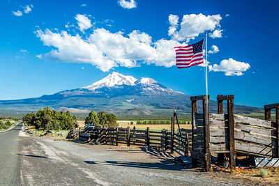 Vista looking south toward Mt. Shasta at 8764 Harry Cash Road, Montague, Siskiyou County, CA. Photo taken June 28, 2013.