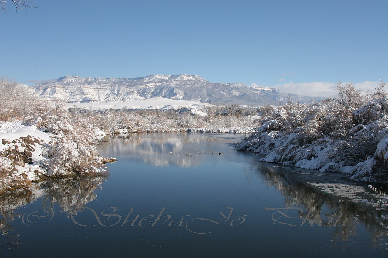 Grand Mesa from one of the small lakes off the Colorado River.