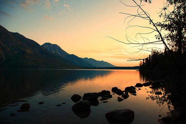 Morning has Broken, Jenny Lake in the Grand Tetons