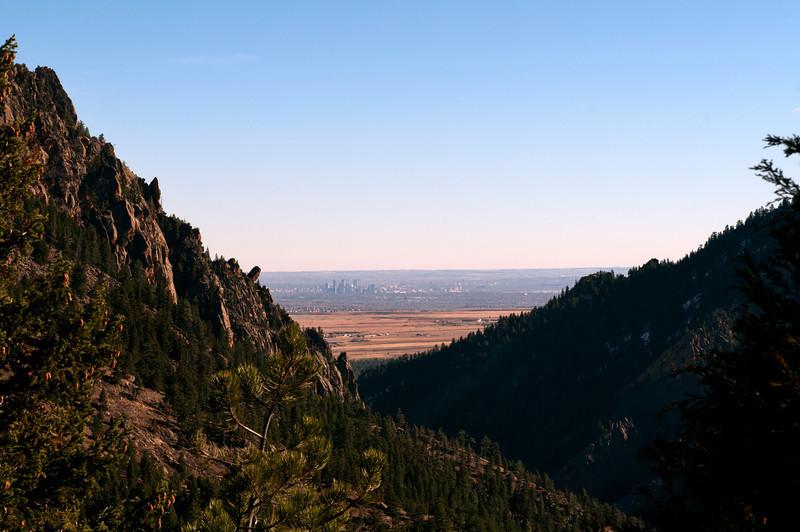 Eldorado Springs looking towards Denver