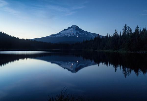 Reflections of Blue - Mt. Hood at Trillium Lake
