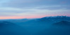 pastel colours in during a winter sunrise in Trentino. Mt. Baldo on the right