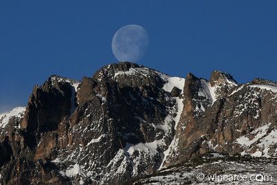 A Snowball Moon over the Rockies.   RMNP February.