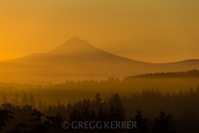 Smokey Sunrise  and Mt Hood 8.25.2012