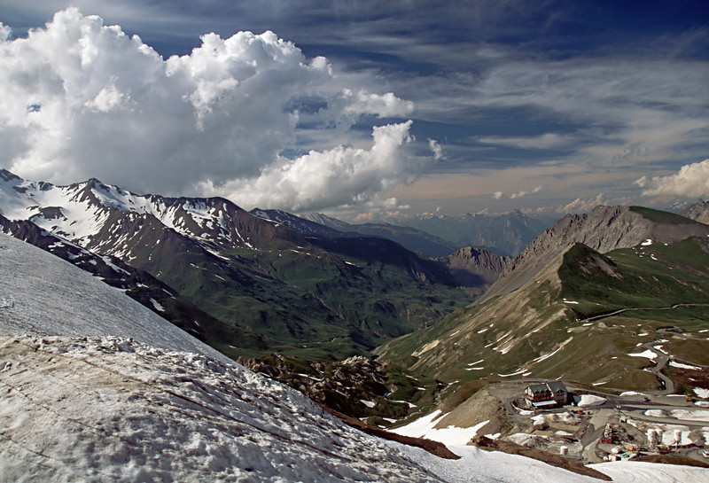 Looking from the other side of the col du Galibier in the French Alps