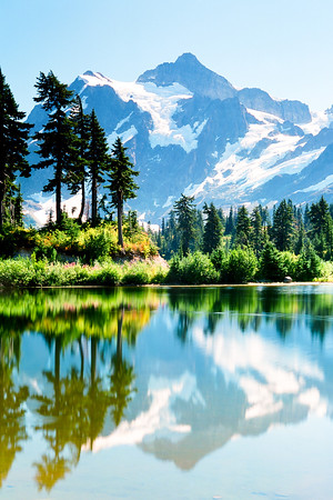 "Mt Shuksan in Washington's North Cascades.  *For information on purchasing prints and canvas gallery wraps, click the ""Purchasing"" tab at the top of the page. If viewing on your mobile device, scroll to the bottom of the page and click the ""Full Site"" tab to view as if you were on your home PC and then go to the ""Purchase"" tab to for purchasing info. In mobile mode, you will not see the standard navigation bar with the ""Purchase"" tab."
