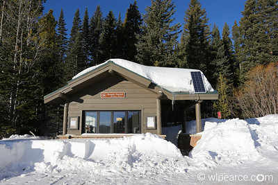 Bear Lake Ranger Station, Rocky Mountain National Park, Mid-February.