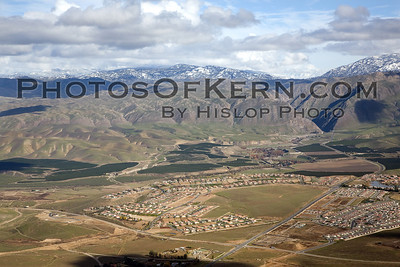 Bakersfield, East Side, Kern Canyon, Aerial, Snow