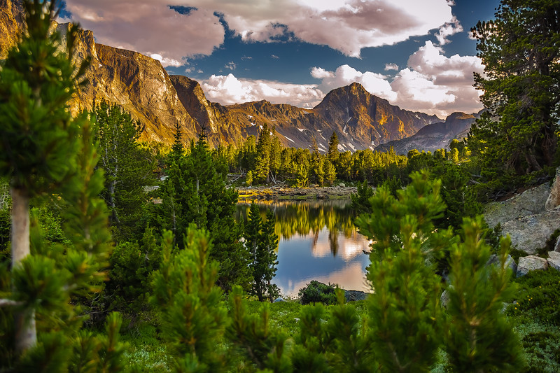 Early Evening over Mary Lake, Absaroka-Beartooth Wilderness, Montana