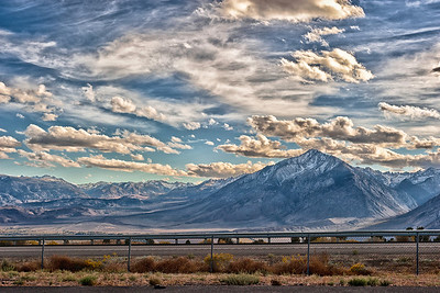 Mount Tom and the Eastern Sierra Nevada, California.