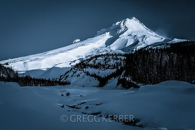 First light on Mt. Hood from White River Canyon (edit 2)