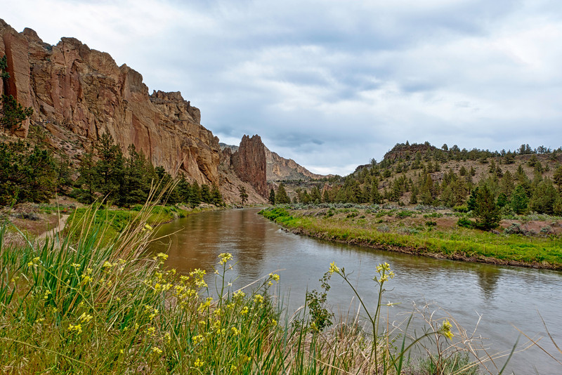 Smith Rock State Park near the towns of Redmond and Terrebonne, Oregon.