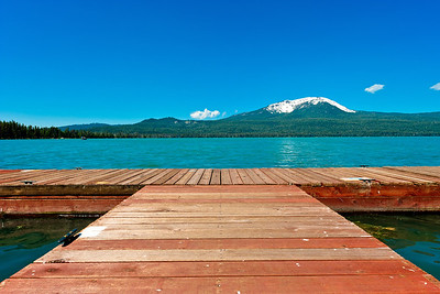 Diamond Lake with Mount Bailey, Umpqua National Forest in Douglas County, Oregon.