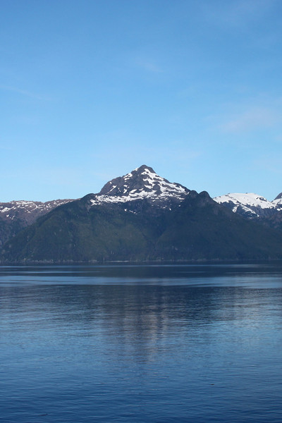 Alaska Inside passage on the way to Juneau - Baranoff Island - view from Frederic Sound