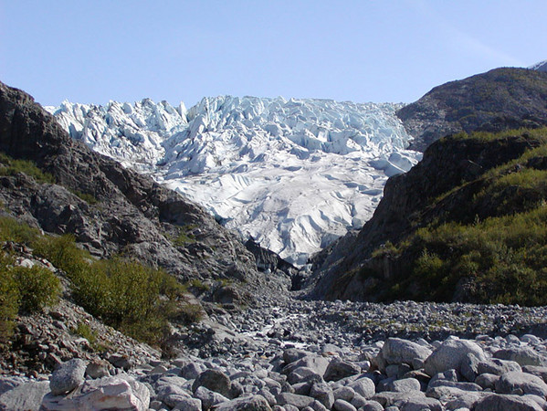 Herbert Glacier, located near Juneau, Alaska. This photograph was taken in the late spring
