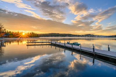 Back Lake Autumn Sunrise