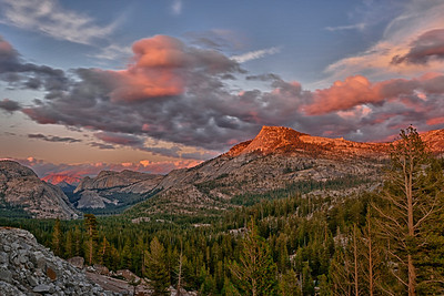 Tioga Pass from Olmstead Point, Yosemite National Park, California.