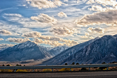 The Eastern Sierra Nevada, California.