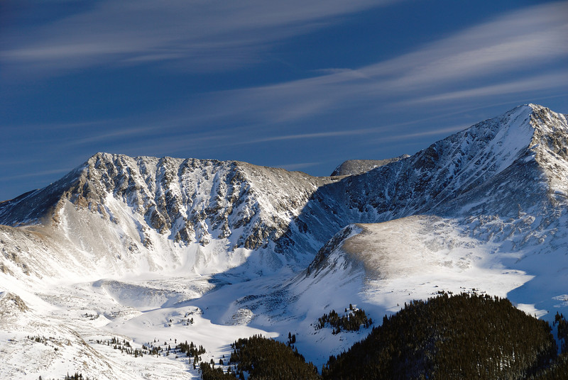 A view from somewhere on Copper Mountain, Colorado