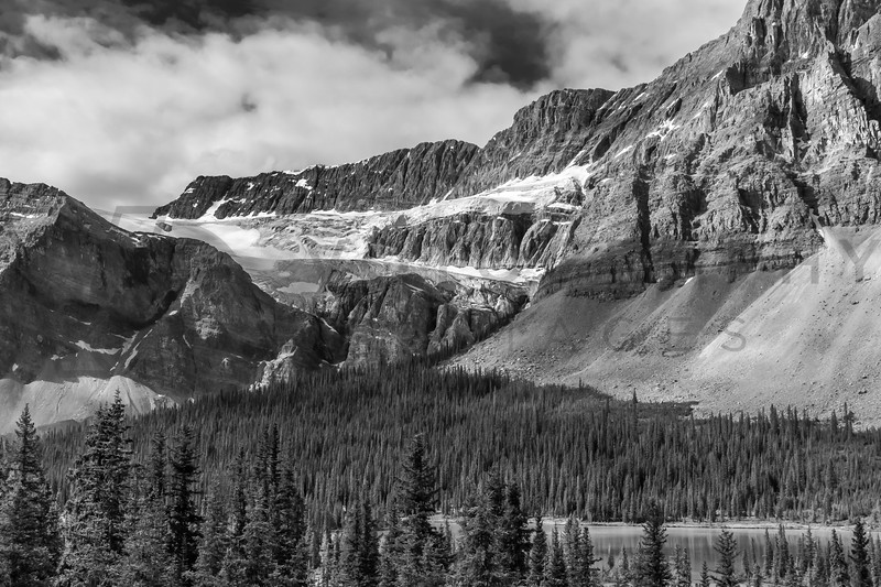 Magnificent Canadian Rockies, Alberta, Canada - monochrome