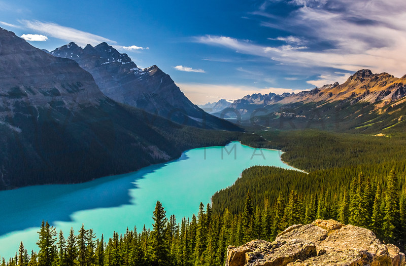 Sensational Peyto Lake and Icefield Parkway Valley, Alberta, Canada