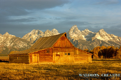 Moulton Barn, with the Tetons, Jackson Hole Wyoming