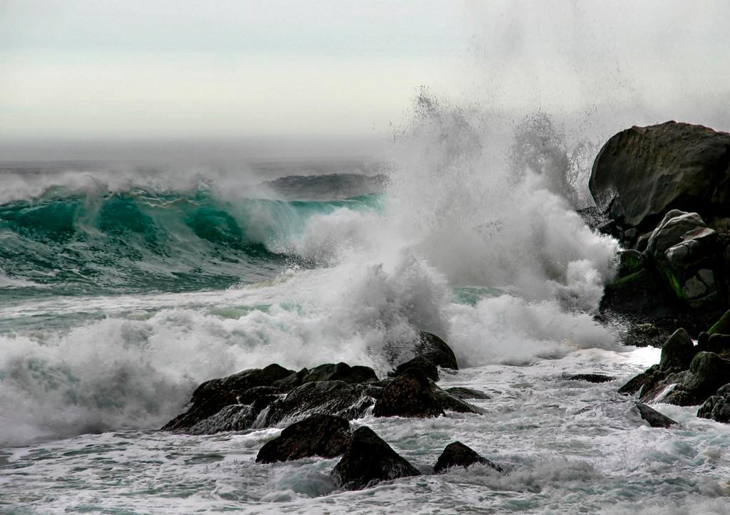 Pacific sea shore Mexico