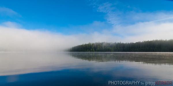 Fog over Timothy Lake