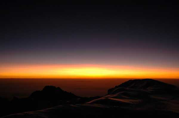 A Kilimanjaro Sunrise