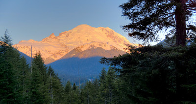 Early morning light on east side of Rainier.