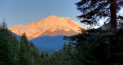 Early morning light on east side of Rainier.