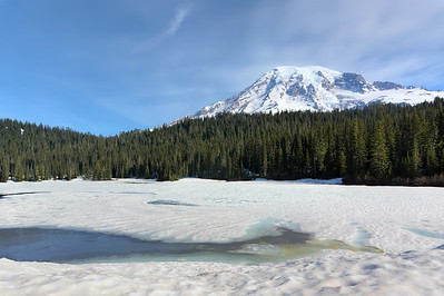 Reflection lake in June