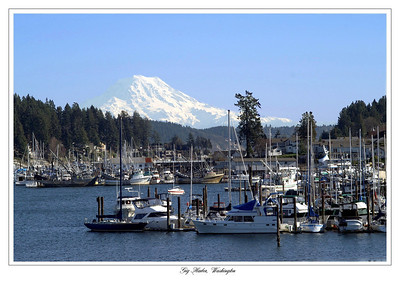 Mt. Rainier as seen from Gig Harbor, Washington.