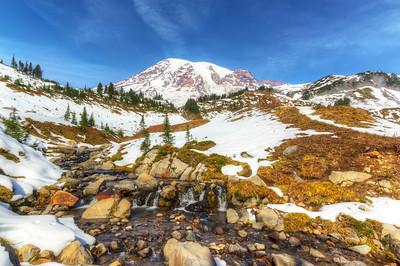 Mt. Rainier,  Edith creek.