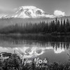 170  G Reflection Lake Sunrise BW