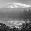 133  G Reflection Lake Sunrise BW