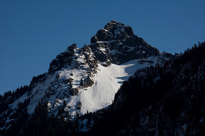 Unknown peak within the park, taken on the drive up to Paradise