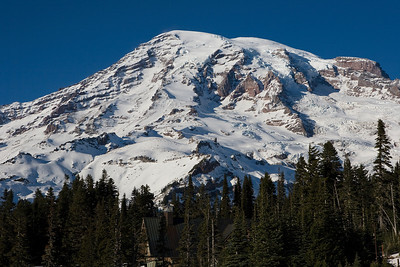 Mt Rainier from the lower Paradise parking lot