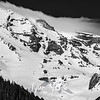 254  G Mt  Rainier and Banner Cloud BW